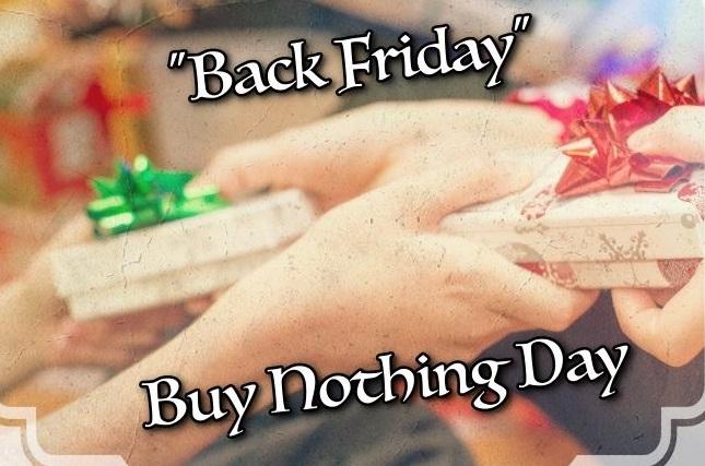 Back Friday: H ημέρα που δεν αγοράζουμε τίποτε, έφτασε από την Ulysses!